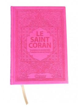 Le Saint Coran Transcription En Caractères Latins Traduction Des Sens En Français Rose