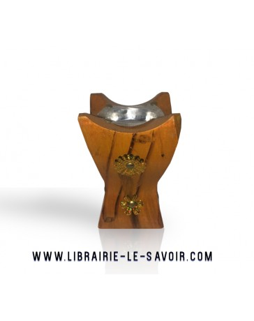 Brûleur de bakhoor en bois - petite taille