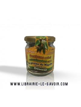 Bonbons Miel eucalyptus et graine de Nigelle (Habba Sawda) - Pot en verre de 150 gr