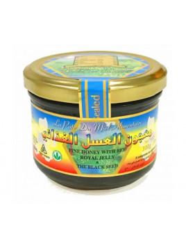 Miel de Nigelle avec Gelée Royal et Pollen d'Abeille - Habba Sawda - Black Seed Honey - River Of Honey - 300 gr