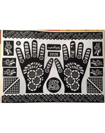Pochoir pour hénné mains - Dessins henné mains