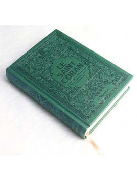 Le Saint Coran arabe / français / phonétique - Traduction des sens en français- couleur Vert Sapin - Edition Orientica
