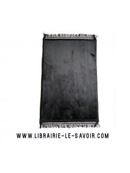 Tapis de prière couleur unie Noire - grand et épais - 120*80
