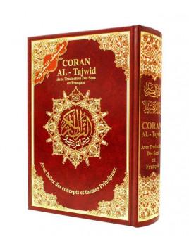 Coran arabe avec règles de Tajwid - Français - Arabe - Phonétique - 17 X 24