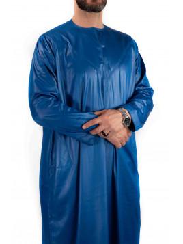 Qamis Emirati - Precious - Bleu roi satiné - Custom Qamis
