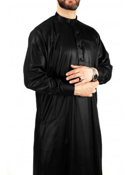 Qamis Saoudien avec col - Noir