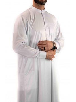 Qamis Saoudien avec col - Blanc