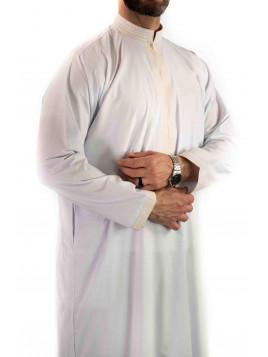Qamis sultan avec broderie - Blanc / Doré