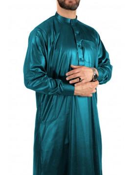 Qamis Saoudien vert bleuté