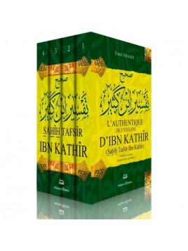 L'authentique de l'exégèse d'Ibn Kathîr (Sahîh Tafsîr Ibn Kathîr) - 4 volumes- Edition Ennour