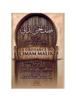 La croyance de l'Imam Malik - Ibn Abi Zayd Al Qayrawani - Edition Imam Malik