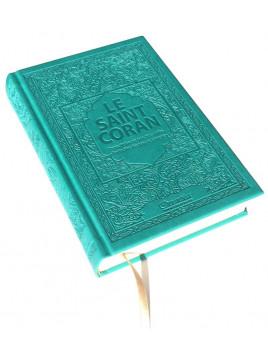 Le Saint Coran Transcription En Caractères Latins Traduction Des Sens En Français Vert