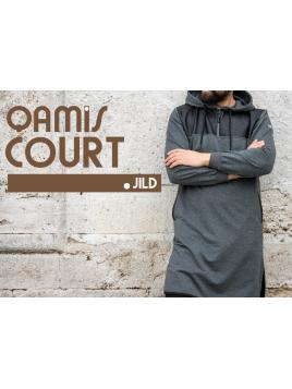 Qamis Court Jild - Anthracite - Qaba'il