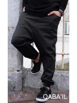 Pantalon Sarouel coupe Battle QABA'IL toile de Coton NOIR