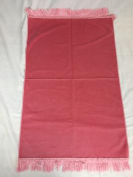 Tapis de Prière Velours Luxe couleur unie - Rose Pâle