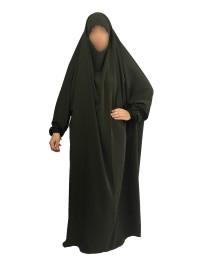 Jilbab 1 Pièce - Kaki 52- Wool Peach - El Bassira