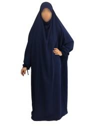 Jilbab 1 Pièce - Bleu Nuit 93 94 95 - Wool Peach - El Bassira