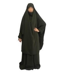Jilbab 2 Pièces Jupes - Kaki 52 - Wool Peach - El Bassira
