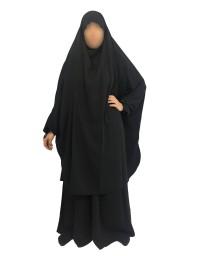 Jilbab 2 Pièces Jupes - Wool Peach - El Bassira