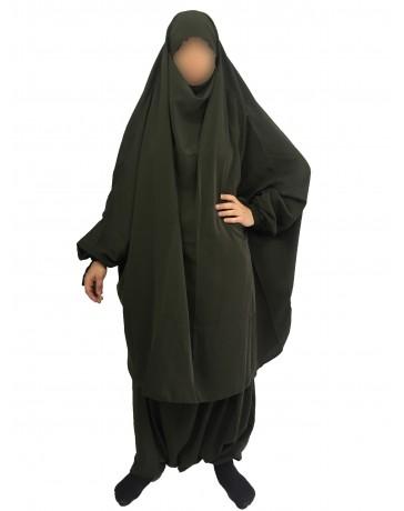 Jilbab 2 Pièces Serwal - Wool Peach - El Bassira