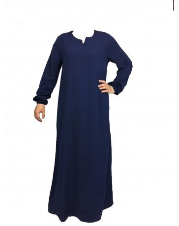 Abaya Manches élastiques - - Wool peach - El Bassira