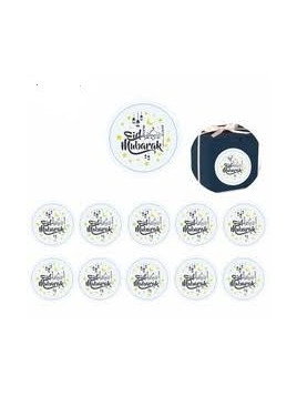 Stickers Eid Mubarak - 10 pièces