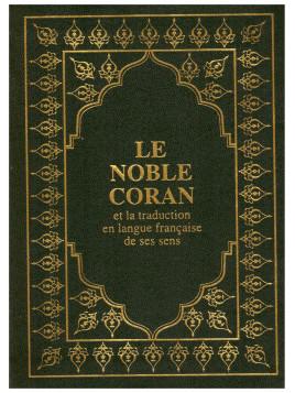 Le Noble Coran (poche) 13 x 17 cm - arabe / français - vert