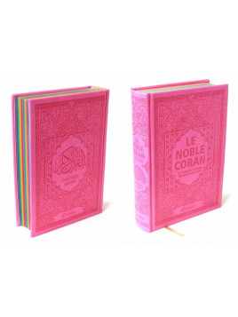 Le Noble Coran - Rainbow Coran Rose - Français/Arabe - Edition Orientica