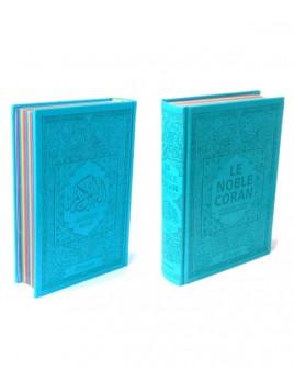 Le Noble Coran - Rainbow Coran Bleu turquoise - Français/Arabe - Edition Orientica