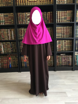Abaya enfant - 4 Marron - Wool Peach - El Bassira