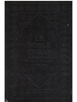 Le Noble Coran Arabe Français Noir 15 x 22 cm