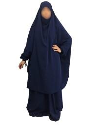 Jilbab 2 Pièces Jupes Bleu WOOL PEACH - El Bassira