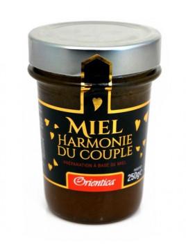 """Miel """"Harmonie du Couple"""" (250g) avec ingrédients Bio : Graine de Nigelle , Maca, Guarana et Ginseng"""