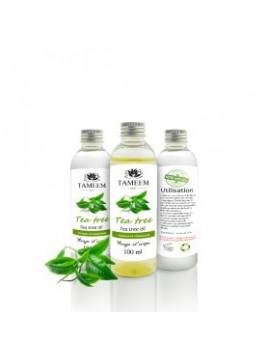 Huile d'arbe à thé 100% pure et naturelle - 100ml - Tameem