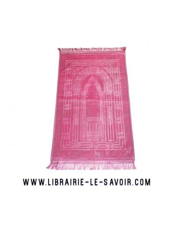 Tapis de prière rose - grand et épais - 120*80