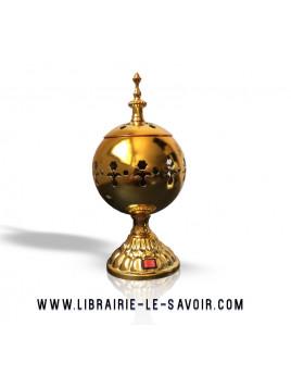 Brûleur électrique luxe doré - brûleur pour Bakhour et encens