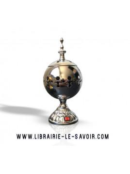 Brûleur électrique luxe Argenté - brûleur pour bakhour