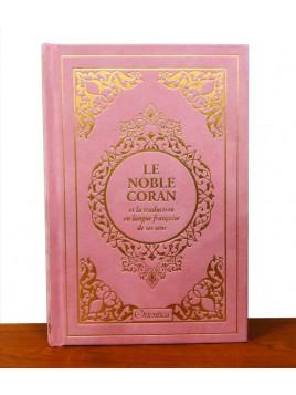 Le Noble Coran et la traduction en langue française de ses sens - Edition de luxe couverture en daim - Gris dorée