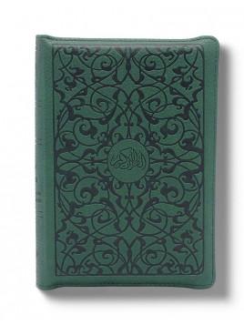 Le Noble Coran Poche avec ZIP - Arabe/Français - Vert