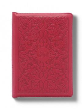 Le Noble Coran Poche avec ZIP - Arabe/Français - Rouge